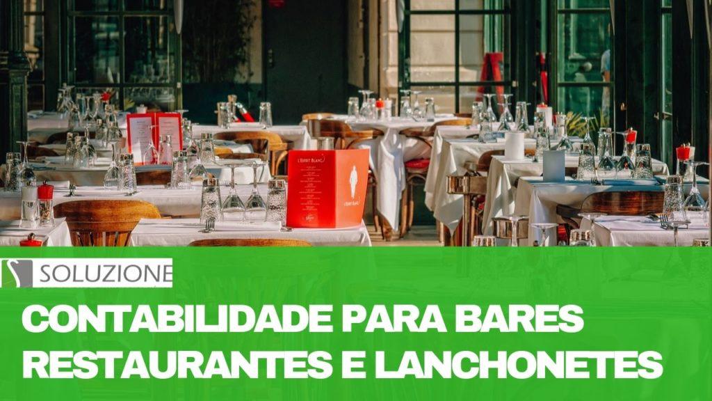 contabilidade para bares, restaurantes e lanchonetes